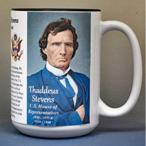 Thaddeus Stevens, US Representative biographical history mug.