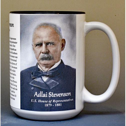 Adlai Stevenson, US Representative biographical history mug.