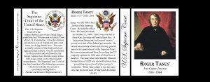 Roger Taney, Chief Justice, US Supreme Court history mug tri-panel.