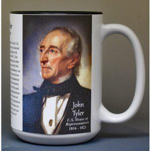 John Tyler, US Representative biographical history mug.