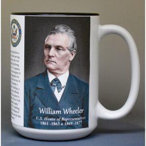 William Wheeler, US Representative biographical history mug.