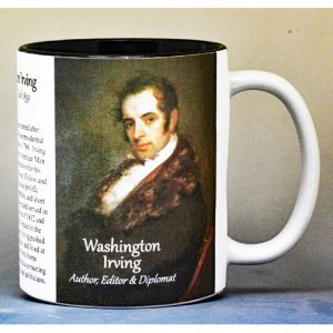 Washington Irving author history mug.