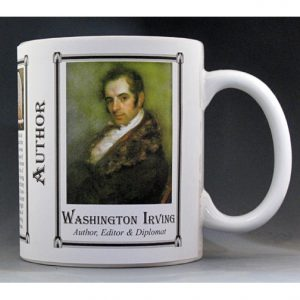 .Washington Irving Author history mug.