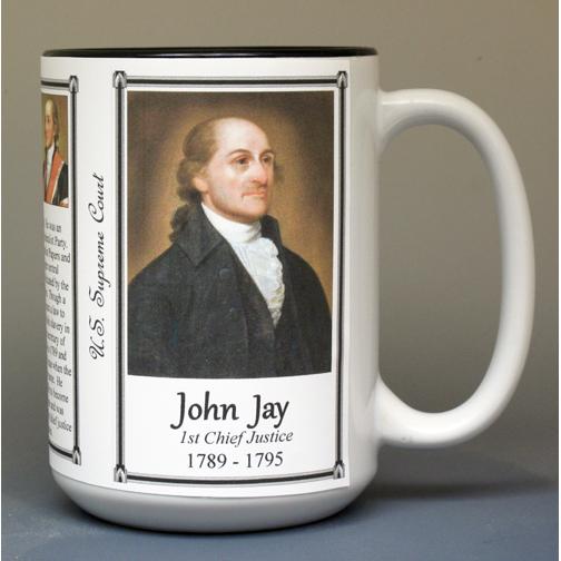 John Jay, Chief Justice, US Supreme Court biographical history mug.