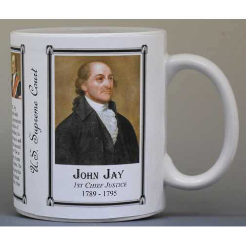 John Jay, Chief Justice, US Supreme Court history mug.