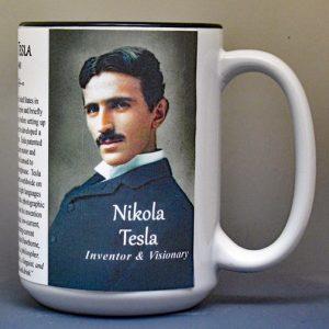 Nikola Tesla Scientist & Inventor biographical history mug.