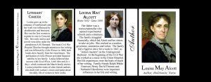 Louisa May Alcott author history mug tri-panel.