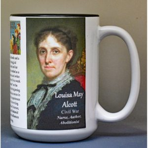 Louisa May Alcott, Civil War biographical history mug.
