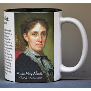 Louisa May Alcott, author, history mug.