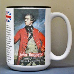John Burgoyne, American Revolutionary War biographical history mug.
