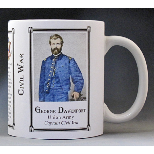George Davenport Civil War Union Army history mug.