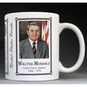 Walter Mondale US Senator who became Vice President of the US history mug.
