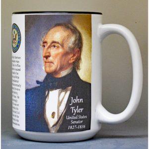 John Tyler, US Senator history mug.