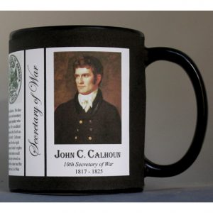 John C. Calhoun US Secretary of War history mug.