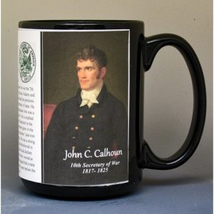 John C. Calhoun, US Secretary of War biographical history mug.