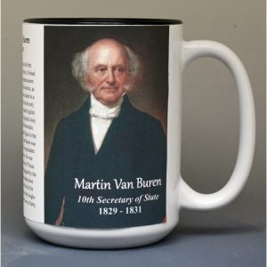 Martin Van Buren, US Secretary of State biographical history mug.