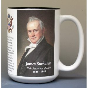 James Buchanan, US Secretary of State biographical history mug.