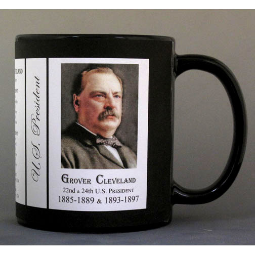 22nd & 24th US President Grover Cleveland history mug.