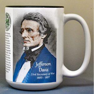 Jefferson Davis, US Secretary of War biographical history mug.