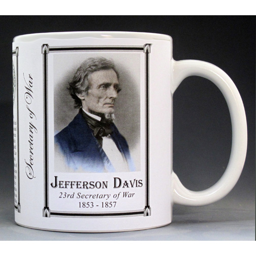 Jefferson Davis US Secretary of War history mug.