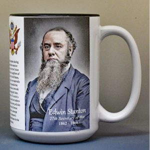 Edwin Stanton, US Secretary of War biographical history mug.