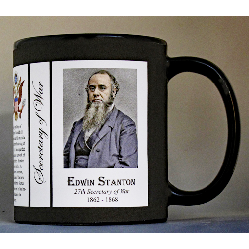 Edwin Stanton US Secretary of War history mug.