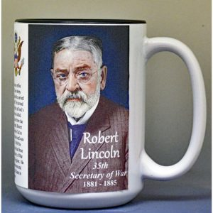 Robert Lincoln, US Secretary of War biographical history mug.
