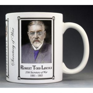 Robert Todd Lincoln US Secretary of War history mug.