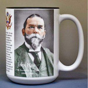 John Hay, US Secretary of State biographical history mug.