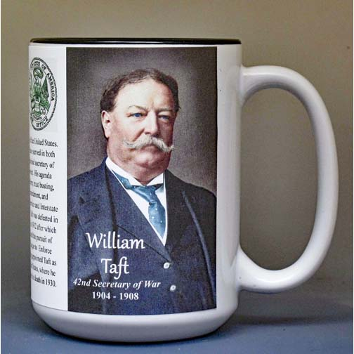 William H. Taft, US Secretary of War biographical history mug.