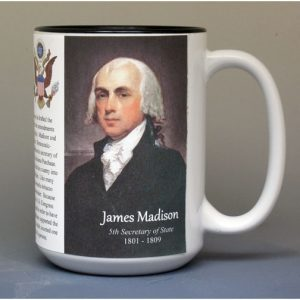 James Madison, US Secretary of State biographical history mug.
