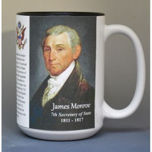 James Monroe, US Secretary of State biographical history mug.