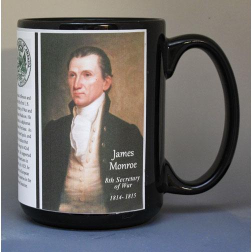 James Monroe, US Secretary of War biographical history mug.