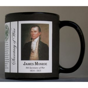 James Monroe US Secretary of War history mug.