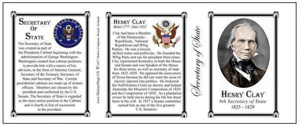 9-Sec State- Clay, Henry-Tri Panel