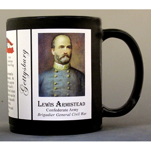 Lewis Armistead Civil War history mug