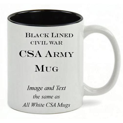 Black Lined White mug, same copy as All White Mug.