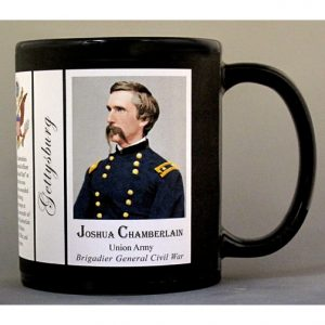 Joshua Chamberlain, Gettysburg Union Army officer biographical history mug.