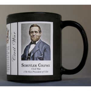 Schuyler Colfax Civil War Union civilian history mug.