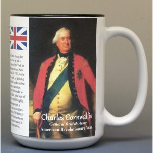 Charles Cornwallis, American Revolutionary War biographical history mug.