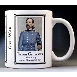 Thomas Crittenden Civil War Union soldier history mug.
