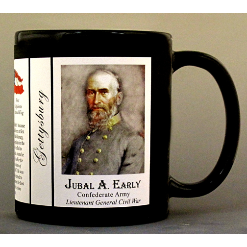 Jubal Early, Gettysburg history mug.