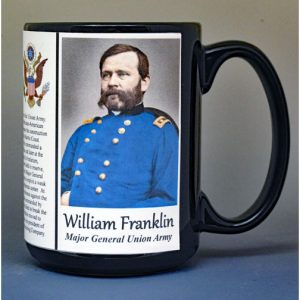 William Franklin, Major General Union Army, US Civil War biographical history mug.