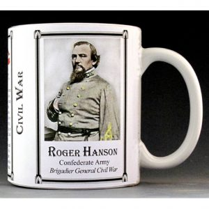 Roger Hanson Civil War Confederate Army & Navy history mug.