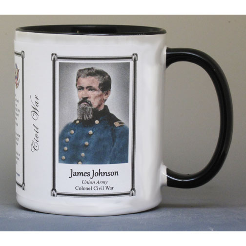 James Johnson Civil War Union Army biographical history mug.