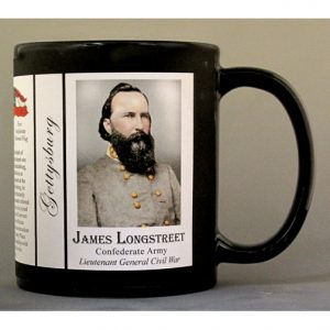 James Longstreet, Gettysburg biographical history mug.