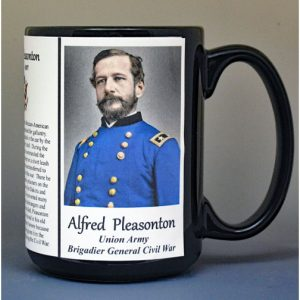Alfred Pleasonton, Brigadier General Union Army, US Civil War biographical history mug.