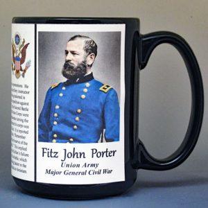 Fitz John Porter, Union Army, US Civil War biographical history mug.