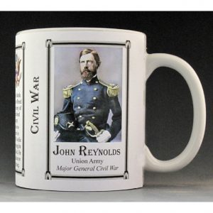 John Reynolds Civil War Union Army history mug.