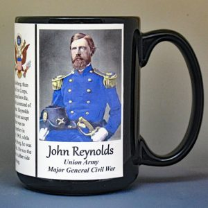 John Reynolds, Major General Union Army, US Civil War biographical history mug.